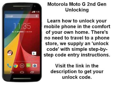 Unlock Motorola Moto G 2nd Gen Moto G2 Xt1063 Xt1064 Xt1068