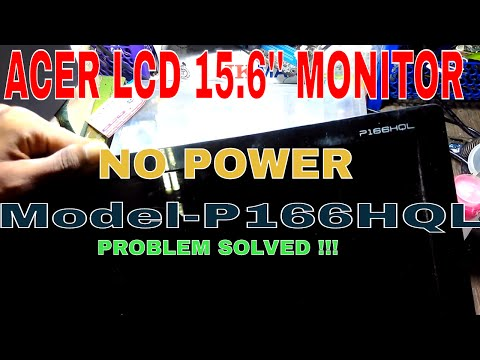 acer lcd monitor no power step by step repair in hindi