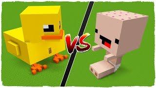 Casa De Amaya Vs Casa De Pato Pato - Minecraft