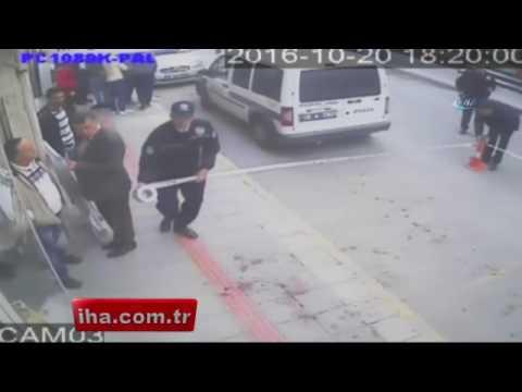 Bursa'da Cinayet anı güvenlik kamerasında