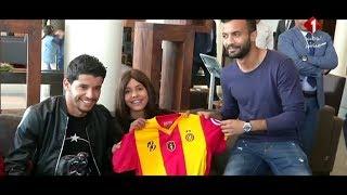 Omnyati et les joueurs de l'Espérance Sportive de Tunis réalisent le rêve d'une jeune fille