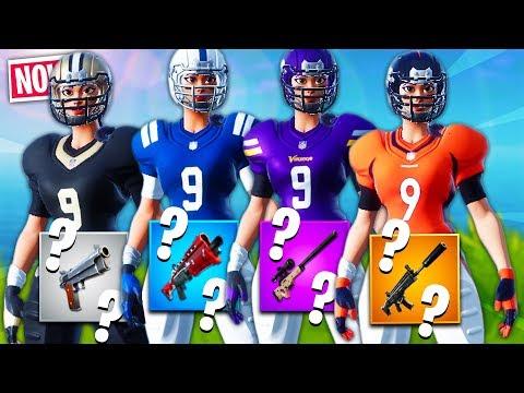 🏈 LOSOWY SKIN *NFL* CHALLENGE w Fortnite!