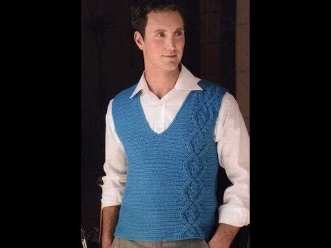 Free English Crochet Patterns For Crochet Sweater For Men 2159
