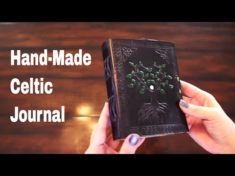 ☘ Celtic Tree of Life Leather Journal (The LEAH Shop)