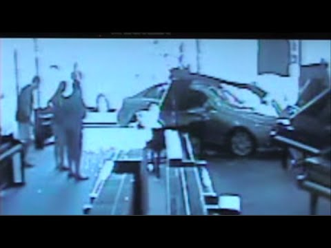 Car Crashes Into Piano Store - Caught On Tape! (EPIC DRIVING FAIL)