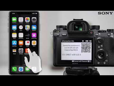 How to make a Wi-Fi connection using QR code For iPhone/iPad (Imaging Edge Mobile)
