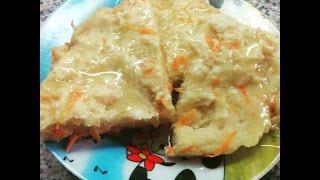 Творожная запеканка из яблок и моркови по Дюкану / Cottage casserole with apples and carrots
