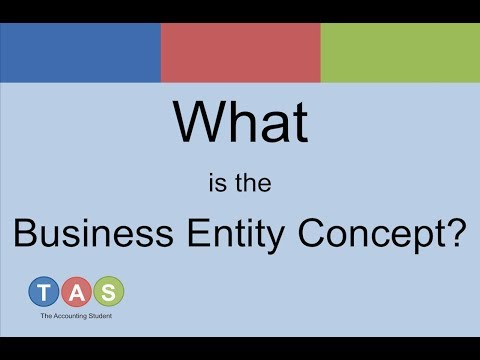 What is the Business Entity Concept? - YouTube