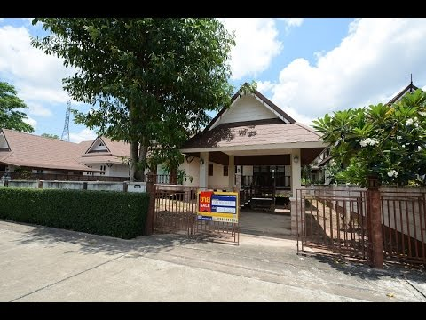 บ้านเดี่ยวชั้นเดียว 1 หลัง  โครงการหมู่บ้าน เทวีรีสอร์ท (พัทยา) อำเภอ บางละมุง ชลบุรี
