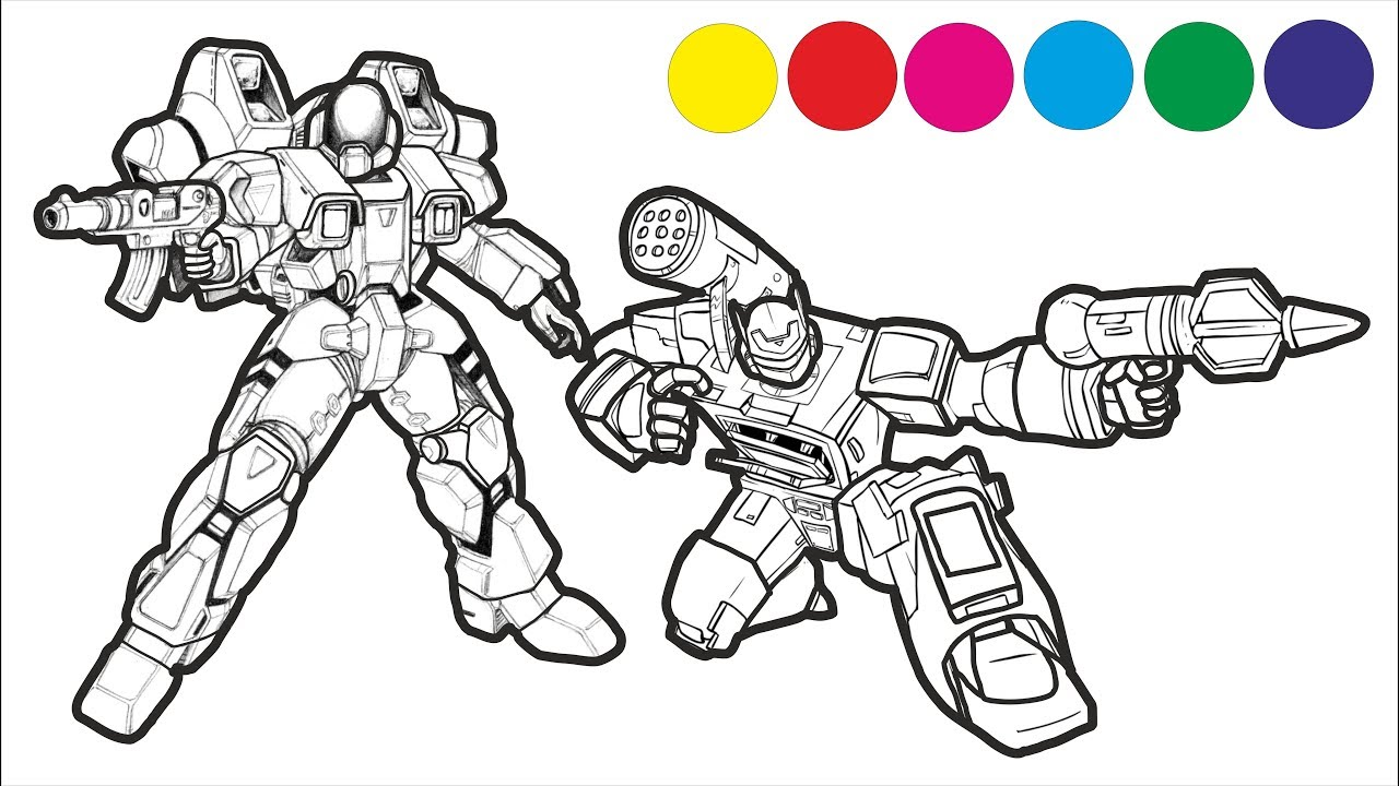 Transformers Godzilla Coloring Pages Colouring Pages For Kids With Colored Markers Youtube