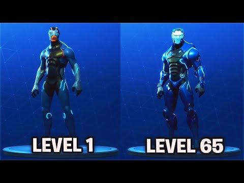 """LEVEL 65 """"CARBIDE"""" Full Armor Unlocked! Fortnite Season 4 Battle Pass Skin Fully Upgraded"""