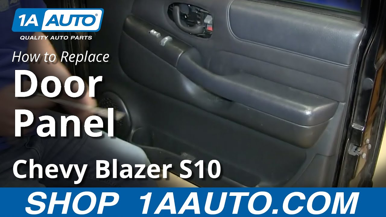 How To Remove Door Panel 98 05 Chevy S10 Blazer Youtube