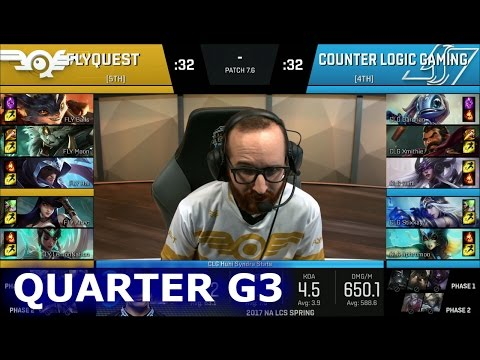 CLG vs FlyQuest Game 3 | Quarter Finals S7 NA LCS Spring 2017 PlayOffs | CLG vs FLY G3 QF 1080p