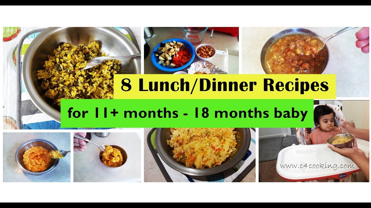 8 lunch/dinner recipes for ( 11+months - 18 months baby ) | homemade