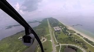 Helicopter Tour of St  Petersburg, Florida, Downtown to Beaches to Sunshine Skyway Bridge, Timelapse