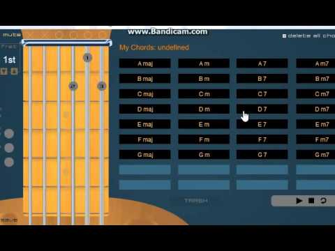guitar chords - INTERACTIVE VIDEO - - YouTube