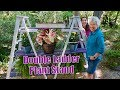 DIY A-Frame Double Ladder Plant Stand