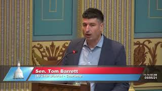 Sen. Barrett speaks in support of Senate Resolution 48 (Police Week)