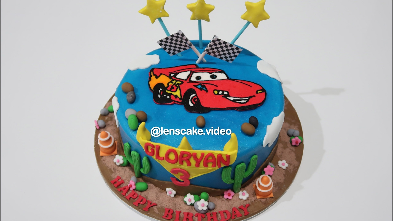 Mcqueen Birthday Cake Simple