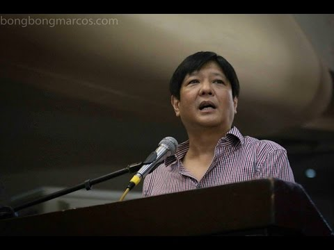 Sen. Bongbong Marcos - Youth Forum at University of Perpetual Help System Laguna
