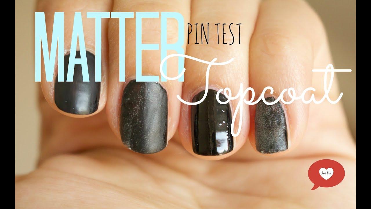 PIN TEST Matter Topcoat zum selber machen #2 deutsch - YouTube