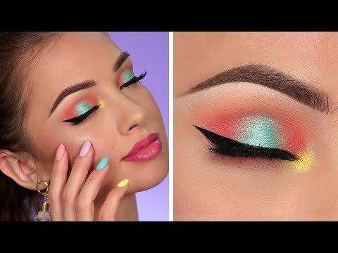 Bright Summer Makeup Tutorial | Colorful Smokey Eye thumbnail
