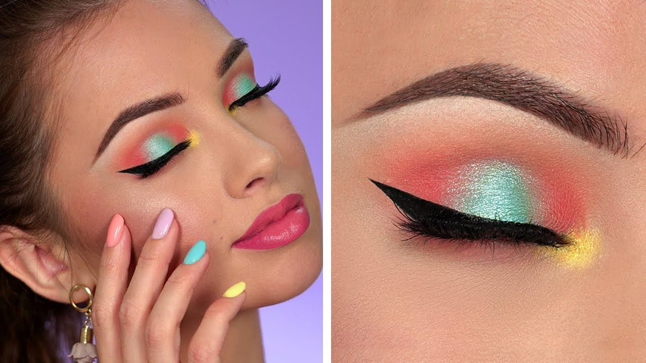 Bright Summer Makeup Tutorial | Colorful Smokey Eye
