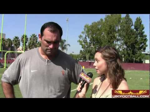 Trojan offensive line coach James Cregg addresses issues