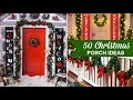 50 Best Christmas Porch Decorating Ideas