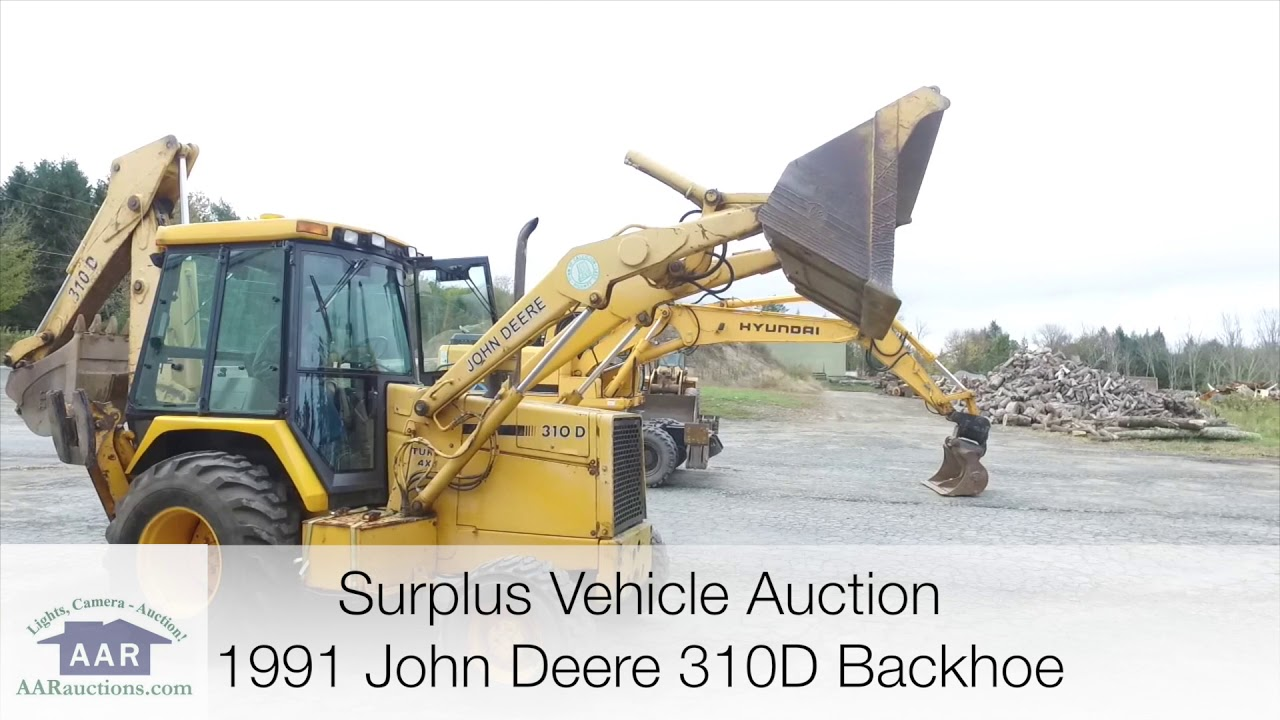 1991 John Deere 310d Backhoe Loader For Sale Youtube
