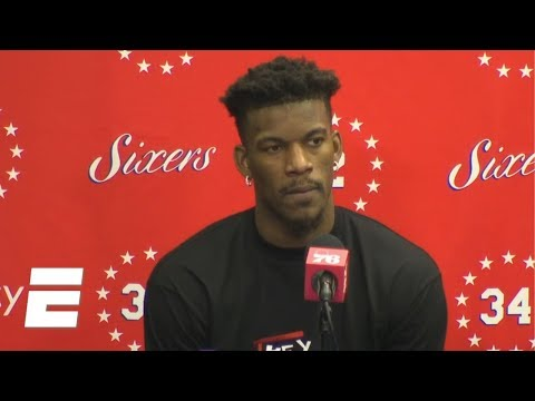 Jimmy Butler likes 76ers' playoff chances with Tobias Harris addition | NBA on ESPN