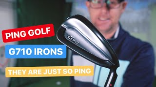 PING G710 IRONS THEY ARE SO PING GOLF LOVE IT