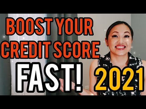 How to BOOST your CREDIT SCORE FAST in 2021