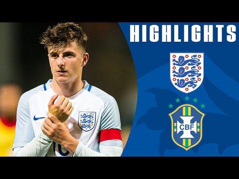 England U18 0-0 Brazil U18 (2017 International Friendly)   Official Highlights