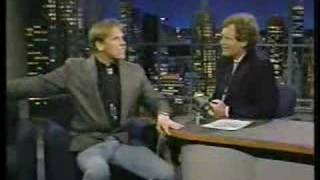 Gary Busey on Letterman 1990