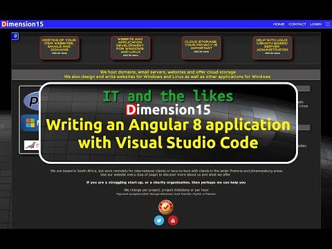 Write your first website in Angular 8 with Visual Studio Code thumbnail