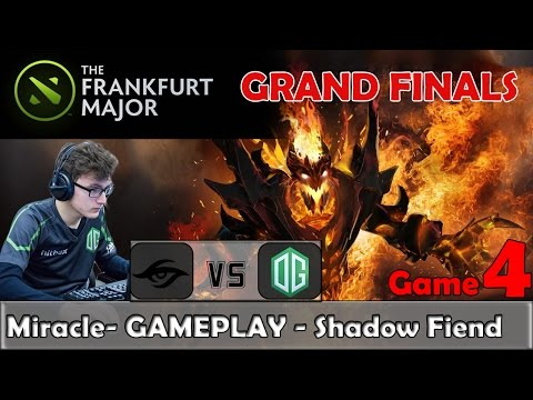 Miracle - Shadow Fiend Gameplay | Secret vs OG Game 4 | Gran