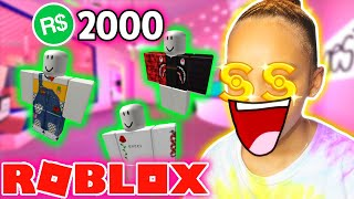 2000 $ ROBUX 💸 Shopping Spree! | Roblox (Teil 1/2)