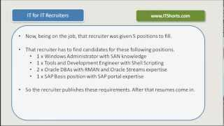 Recruiter Training - IT for IT Recruiters - Introduction (Video 1)