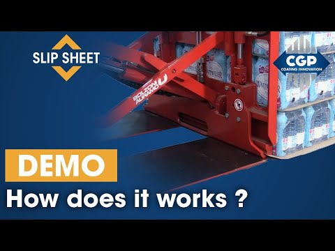 Slip-sheet ECOLOGISTIK | Pallet Less Concept demonstration #CGPCoatingInnovation