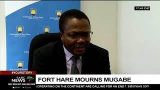 Fort Hare mourns Mugabe