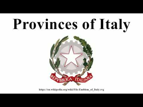 Provinces of Italy