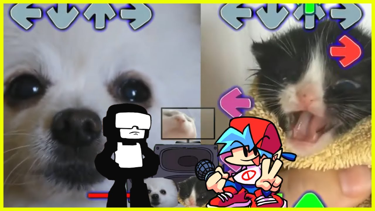 """Fnf Ugh but it's Gabe the Dogs """"bork"""" instead (Ft. Vibing Cat & Towel Cat)"""