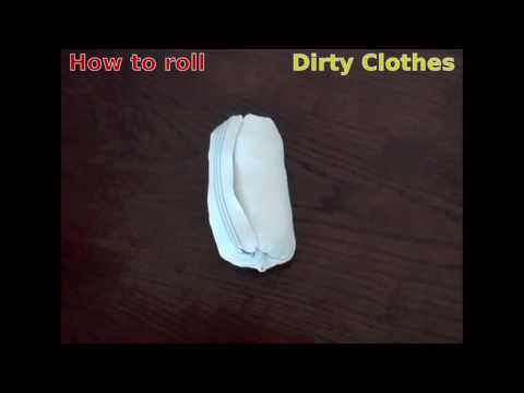 How to pack light - Roll Dirty Clothes