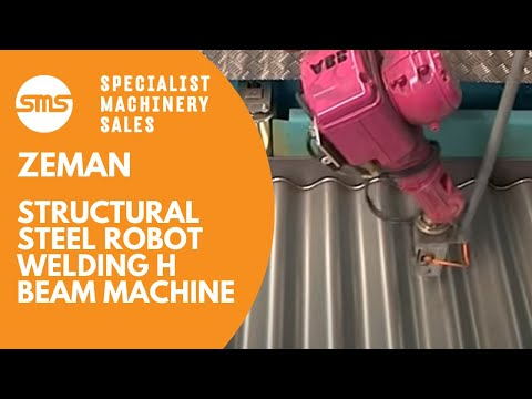 Zeman Structural Steel Robot Welding H Beam Machine | Specialist Machinery Sales