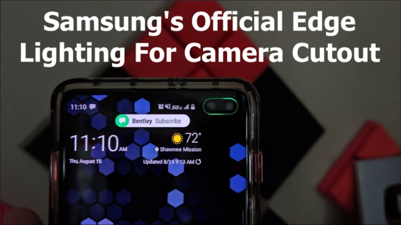 how to get more samsung official edge lighting options
