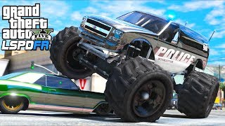 GTA 5 Mods - *NEW* Police Liberator Monster Truck!! (LSPDFR Gameplay)