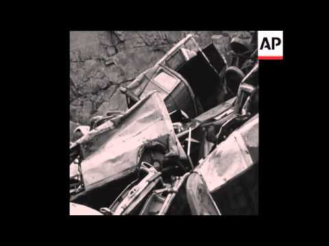 Can  Old Cars Tipped Over Cliff Edge To A Car Junkyard In Wuppertal West Germany