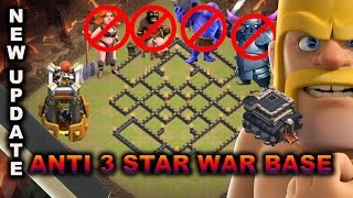 TH9 WAR BASE 2016 WITH BOMB TOWER | ANTI 3 STAR WAR BASE (VALK/PEKKA/BOWLER/HOGS) | CLASH OF CLANS