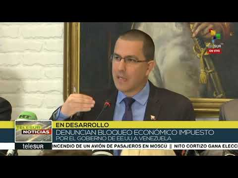 Canciller de Venezuela Jorge Arreaza, rueda de prensa desde Moscú, 6 mayo 2019